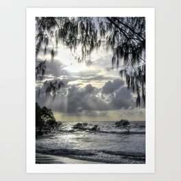 Morning Clouds on 4 Mile Beach Australia Art Print