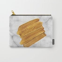 Gold on Marble Carry-All Pouch