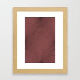 Blush Gold Coppery Pink Gold Leaf Foil Framed Art Print