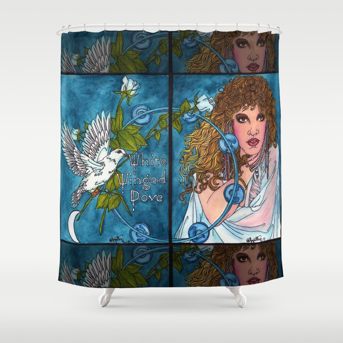 White Winged Dove Shower Curtain