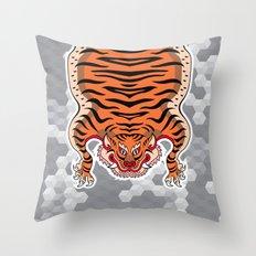 TIBETAN TIGER (white) Throw Pillow