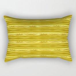 Tribal Markers on Golden Brown Stripes Rectangular Pillow