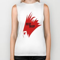 hiphop Biker Tanks featuring HIPHOP RED  by Robleedesigns