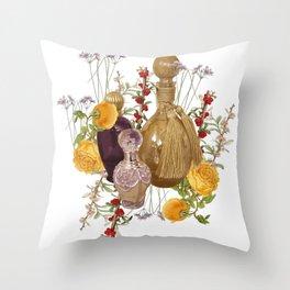 Scented Garden Throw Pillow
