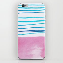 23    |181026 Lines & Color Block | Watercolor Abstract | Modern Watercolor Art iPhone Skin