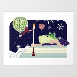 Light of her Life  Art Print