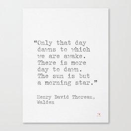 Thoreau quote Canvas Print