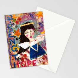 Angel mixed media inspirational wall art Stationery Cards