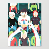 movies Canvas Prints featuring 3D Movies by Patrick O'Leary