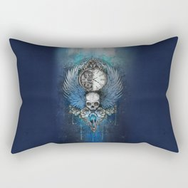 Wings of time - blue Rectangular Pillow