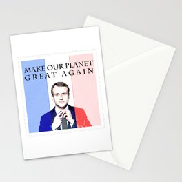 Macron Global Warming Climate Change Stationery Cards