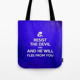 Resist the Devil - Bible Lock Screens Tote Bag