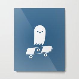 Skate Ghost Metal Print