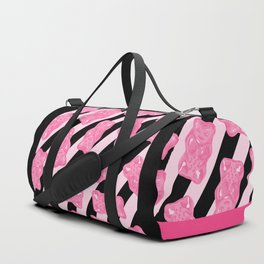 Jelly Beans & Gummy Bears Pattern - Pink and Black Duffle Bag