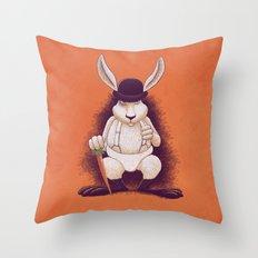 A Clocwork Carrot Throw Pillow