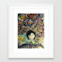 the cure Framed Art Prints featuring The Cure by Matthew Torres