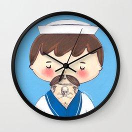 Ahoy Tattooed Sailor  Wall Clock