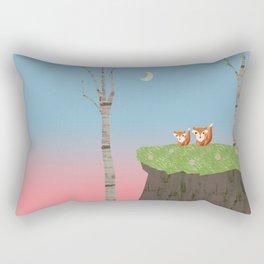 Mama Fox and Kit at Twilight Rectangular Pillow