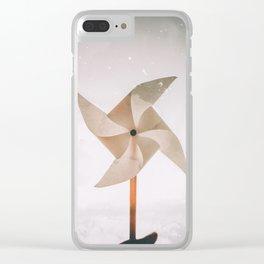 Pinwheel Dream Clear iPhone Case