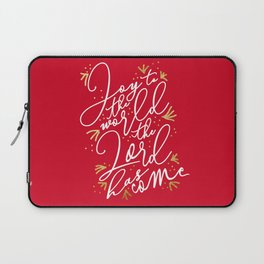 Joy to the World (Red) - Holiday Laptop Sleeve