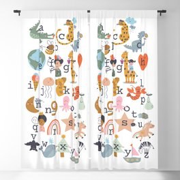 beautiful abc for kids Blackout Curtain