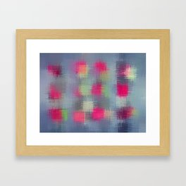 red green and black plaid pattern Framed Art Print