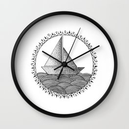 Sailing Boat Wall Clock