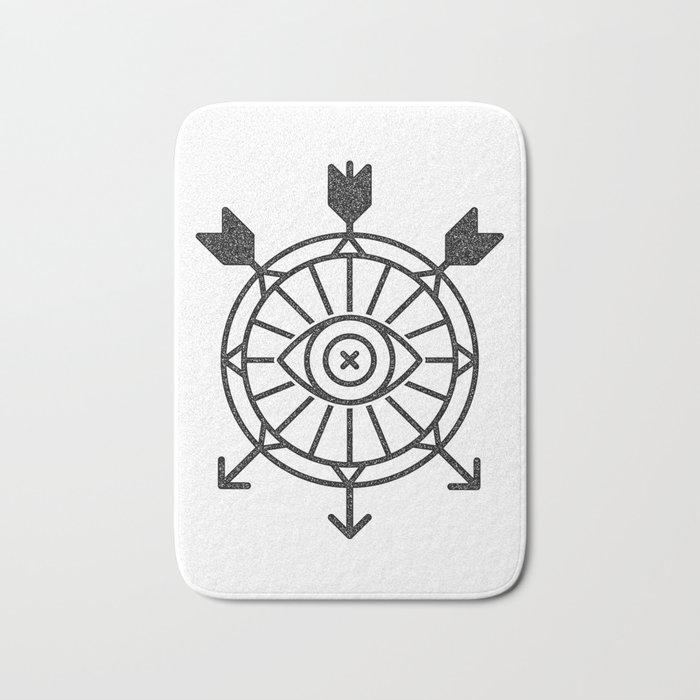 shield of arrows Bath Mat