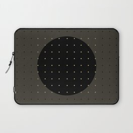 """Grey & Polka dots central circle pattern"" Laptop Sleeve"