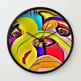 Bulldog Close-up Wall Clock