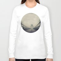 marc johns Long Sleeve T-shirts featuring St. Johns Bridge by Leah Flores