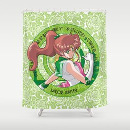 Sailor Jupiter - Crystal Intro Shower Curtain