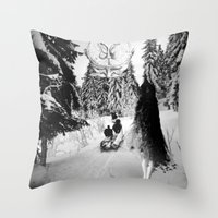 pagan Throw Pillows featuring Pagan forest by Kristina Haritonova