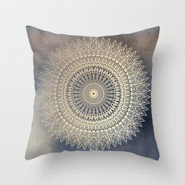DESERT SUN MANDALA Throw Pillow