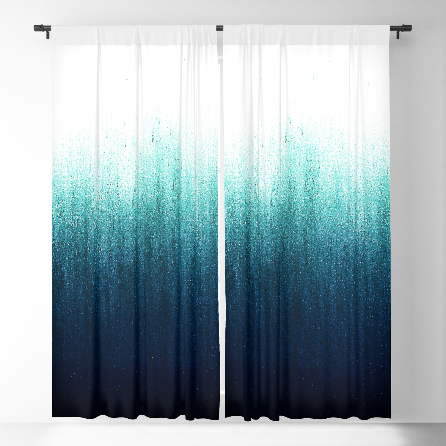 Teal Ombre Blackout Curtain By Caitlinworkman Society6