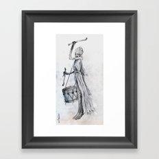 Drumming Death Framed Art Print