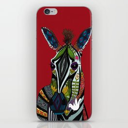 zebra love red iPhone Skin
