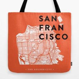 San Francisco Map 04 Tote Bag