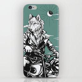 Vintage wolf iPhone Skin