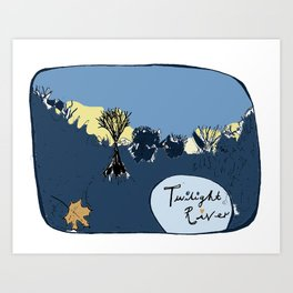 Twilight River Art Print