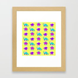 DINO KICKS Framed Art Print