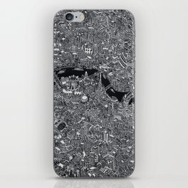 London map black and white iPhone Skin