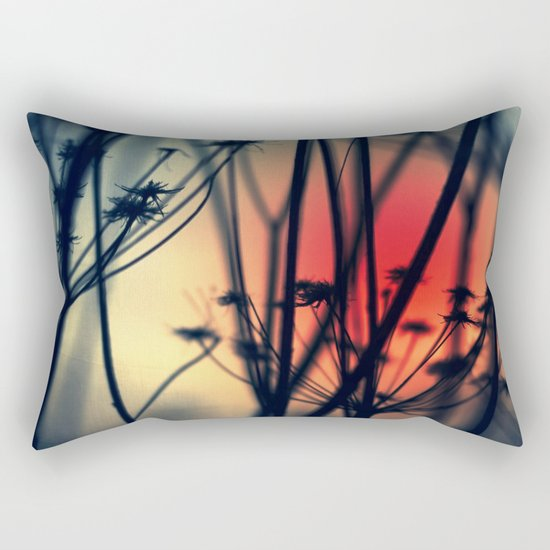 Shapes - dry weeds at sunrise Rectangular Pillow