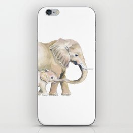 Mom and Baby Elephant 2 iPhone Skin