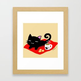 Jiji Tea Time Framed Art Print