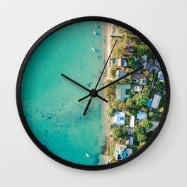 Aerial Beach View Wall Clock