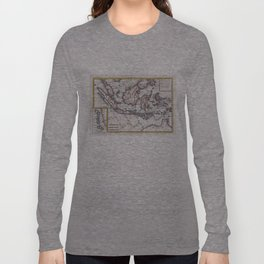 Vintage Map of Indonesia (1780) Long Sleeve T-shirt