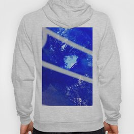 Tree reflection in blue glass Hoody