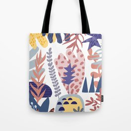 Plants Pattern Abstract Art Tote Bag