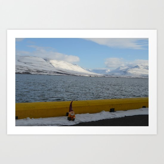 Gnome in Akureyri Art Print